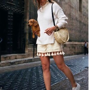 Zara tassel shorts